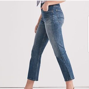 Lucky Brand Distressed Sweet Crop High Rise Jeans